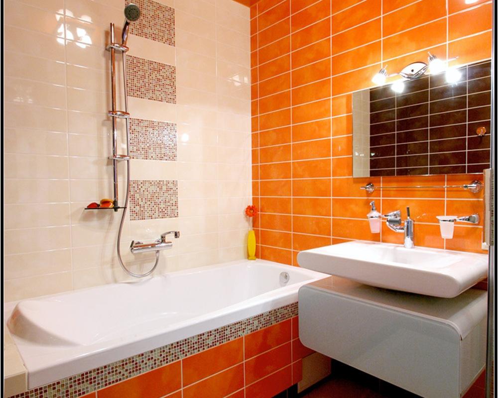 Оранжевая ванные комнаты фото локтевой смеситель купить спб
