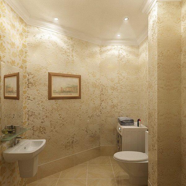 отделка ванной штукатуркой фото