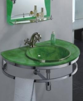 Зеленая раковина для ванной