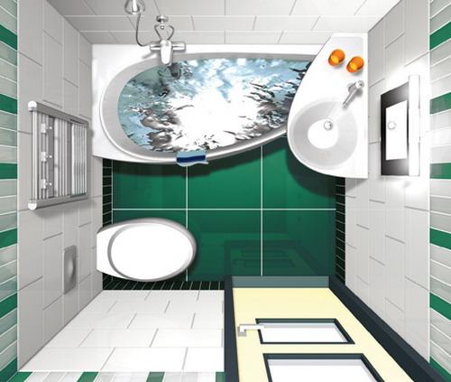 Дизайн ванной, созданный в компьютерной программе