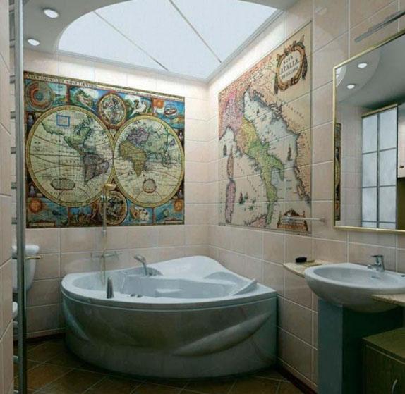 Ванная комната, оформленная в стиле «Классика»