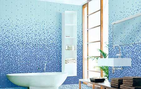 Креативным личностям наверняка придется по вкусу дизайн ванной комнаты с мозаикой
