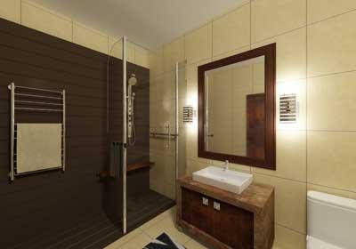 Деловой стиль в ванной комнате