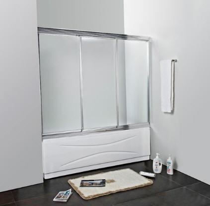 Стеклянные дверцы для ванной в нише