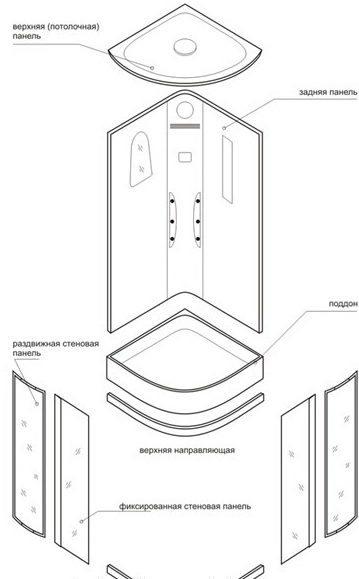 эл схема подключения душевой кабины