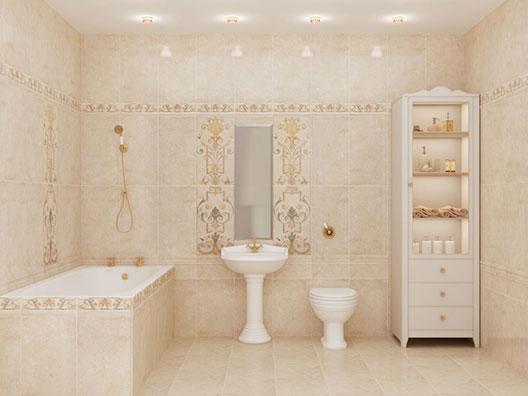 Ванная комната в стиле модерн в пастельных тонах