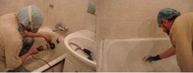 Как восстановить чугунную ванну методом эмалировки: подготовка поверхности и нанесение эмали кистью