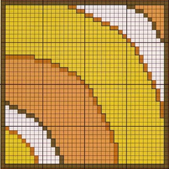 Схема рисунка коврика на сетке
