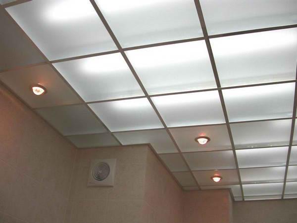 Матовое стекло с комбинированной подсветкой