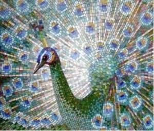 Узор из смальтовой мозаики
