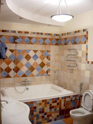 Обделка ванной комнаты