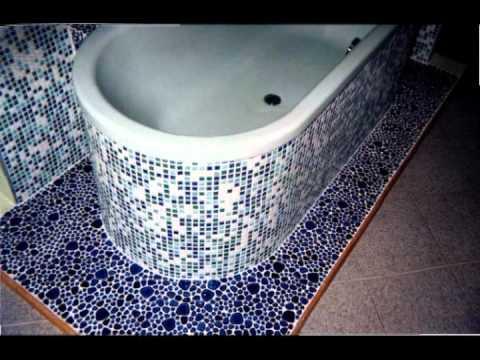 Облицовка чугунной ванны мозаикой