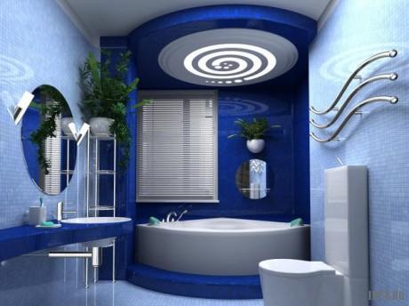 Оформление ванных комнат в стиле хай-тек – это оформление по последнему слову техники