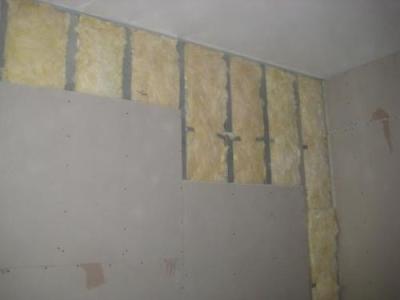 Отделка гипсокартонном стен ванной комнаты
