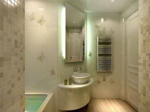Пример отделки ванной комнаты сайдингом
