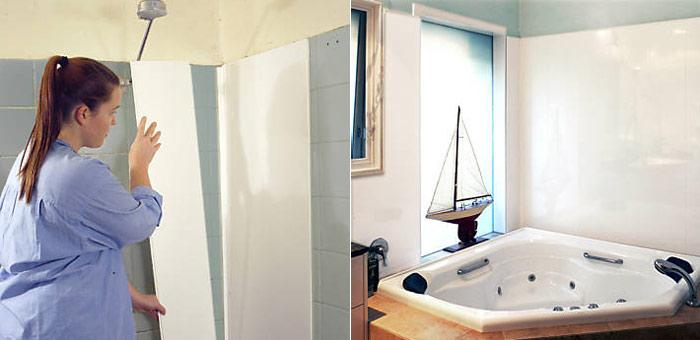 Панели для ванной комнаты: видео по данной тематике сможет наглядно продемонстрировать процесс установки данного материала