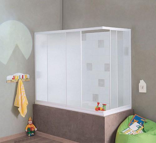Каркасная пластиковая шторка для ванной