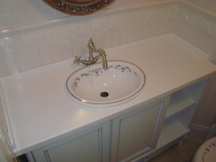 Раковина для ванной врезная овальной формы