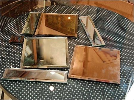 Размер зеркальной плитки может быть разным