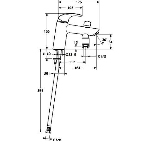 схема смесителя для ванной