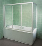 Шторки стеклянные для ванной