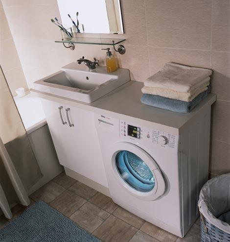 установка стиральной машины в ванной
