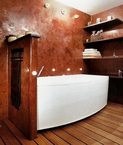 в ванной декоративная штукатурка