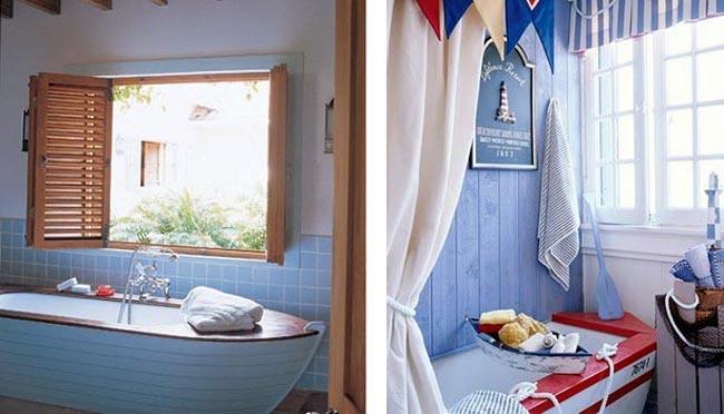 Ванна в морском стиле: варианты