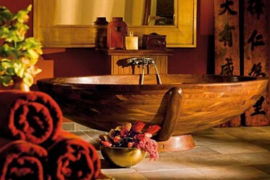 Элементы декора в ванной в Японском стиле