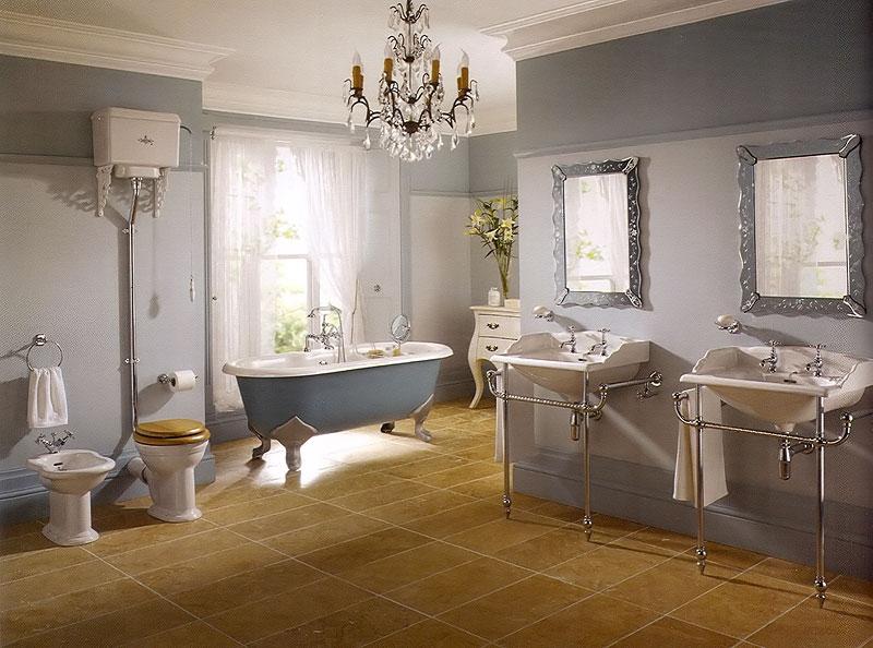 Ванная в викторианском ретро-стиле: легко узнаваемая четкость форм, мягкая роскошь каждой детали интерьера