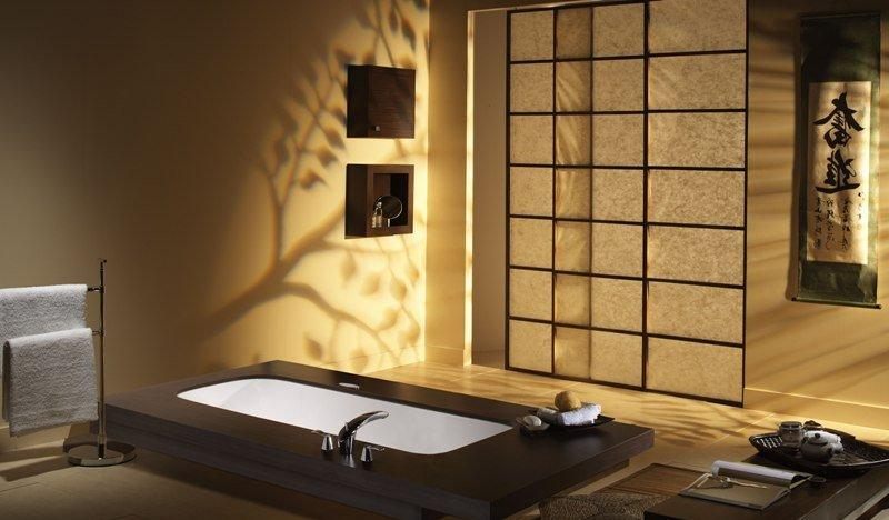 Ванная в современном восточном стиле