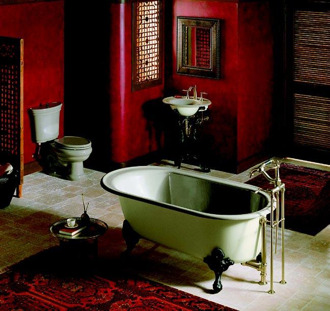 Ванная в стиле ретро – это ванная от Kohler, ведь в коллекциях этой фирмы есть изделия, соответствующие любой стилистической задумке