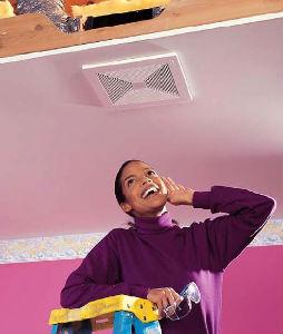 Установка вытяжного бесшумного вентилятора