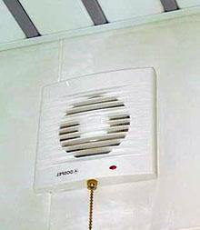 Включение вентилятора с помощью шнура