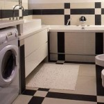 встроенная стиральная машина в ванной