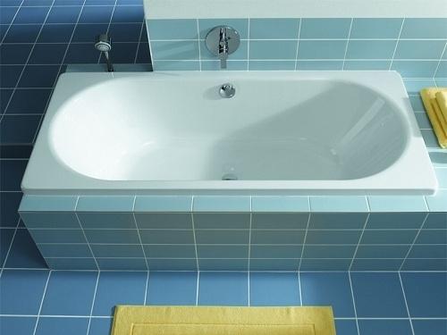 Стальная ванна в интерьере