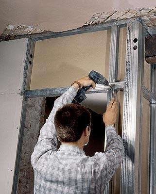 выравнивание гипсокартоном стен в ванной