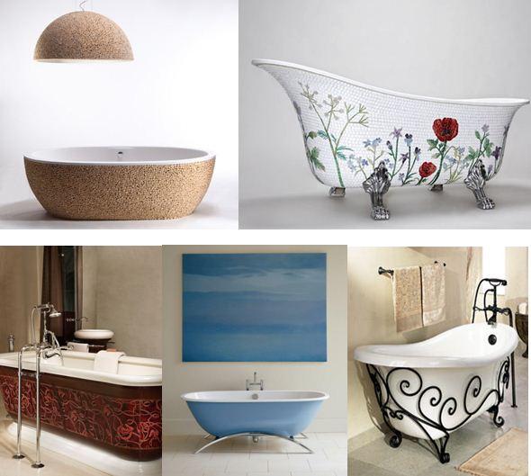 Акриловую ванну снаружи можно украсить деревом, керамической мозаикой, кожей, специальной краской или кованым орнаментом