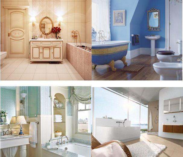 Выбирайте для ванной комнаты мягкие цвета и оттенки