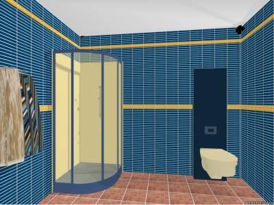 Душевая кабина в небольшой ванной комнате