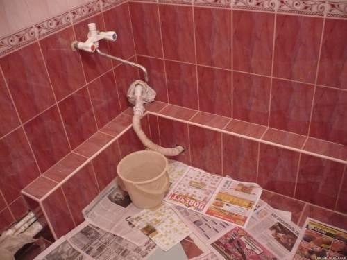 Горизонтальный короб для ванной