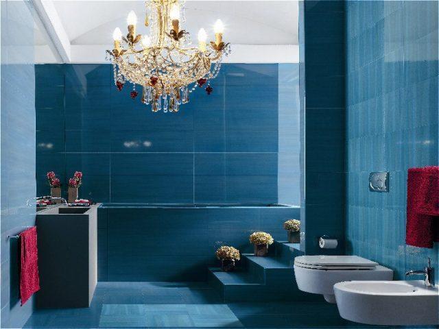 Ванная комната в бирюзовом цвете