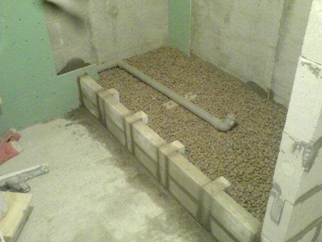 кирпичный подиум под ванну