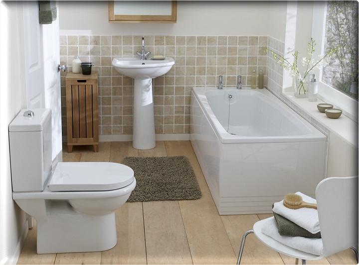 Милая ванная в частном доме