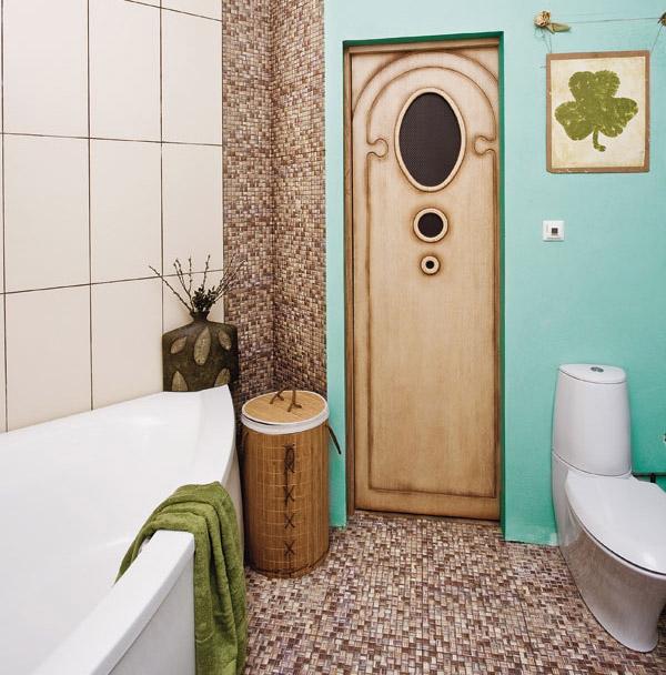 Хороший пример расположения нестандартной ванны в небольшой ванной комнате