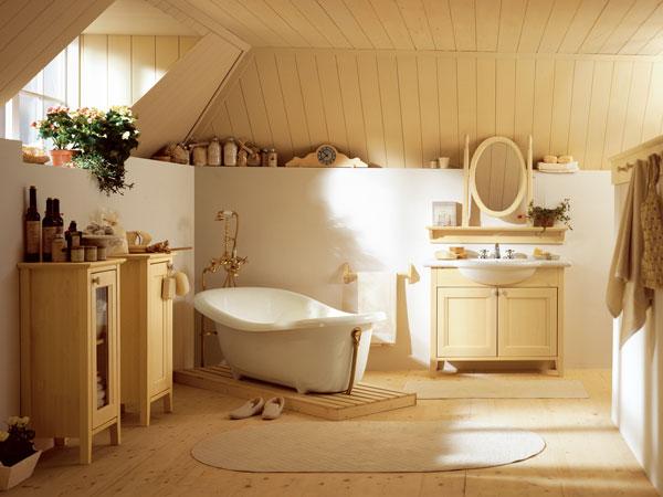 Образец дизайна ванной в стиле кантри