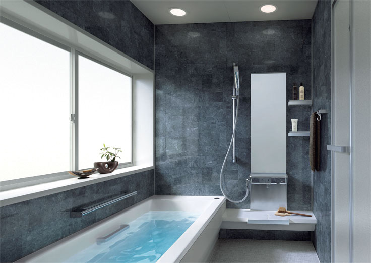 Образец минимализма в ванной комнате