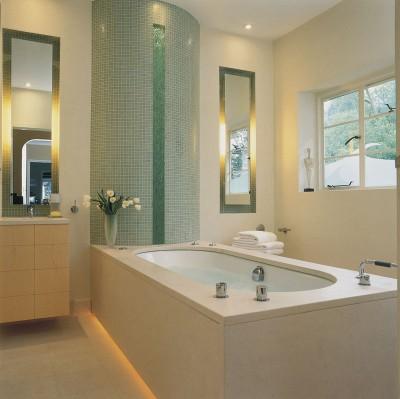 Образец стиля модерн в ванной