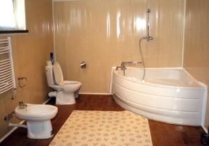 Пример обшивки пластиком небольшой ванной комнаты