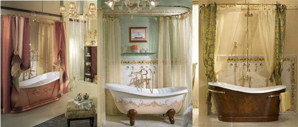 Чугунная ванна в интерьере ванной комнаты